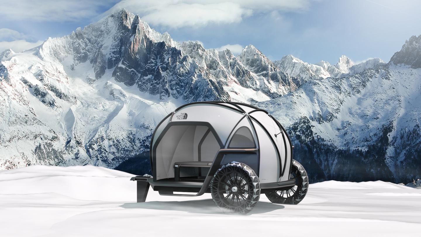 The Futurelight concept brings some high-tech fabric construction to the teardrop trailer