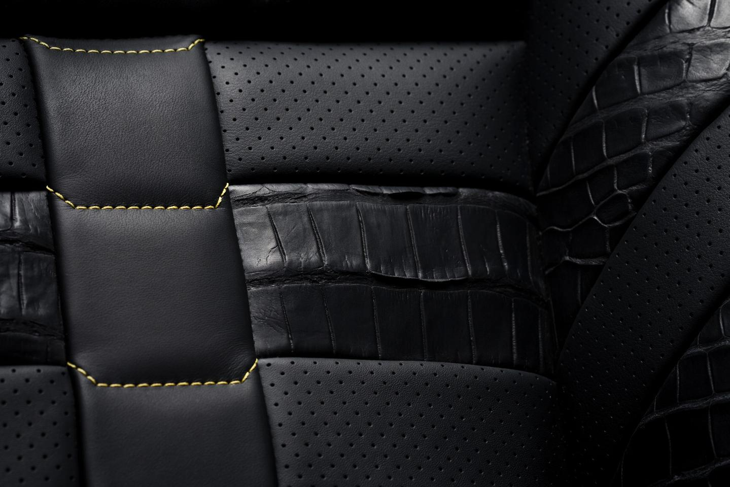 It's not for everyone, but the alligator does provide interesting contrast in the seats