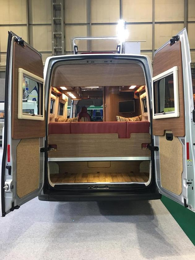 One disadvantage of the rear lounge layout is that it eliminates the possibility of a moving bed/extended rear load area
