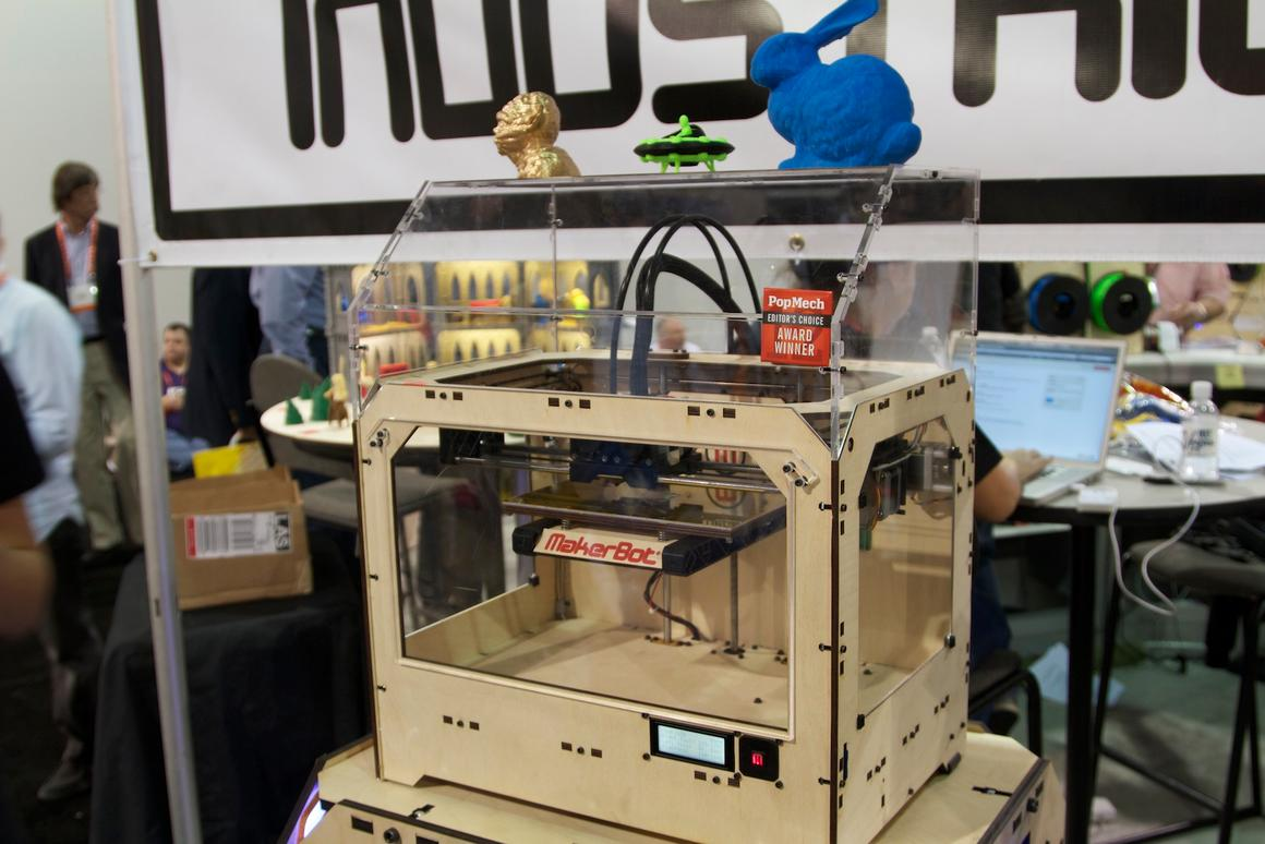MakerBot has unveiled its latest desktop-friendly 3D printer at CES 2012, the Replicator - with a bigger print footprint and the ability to create objects in two colors at the same time