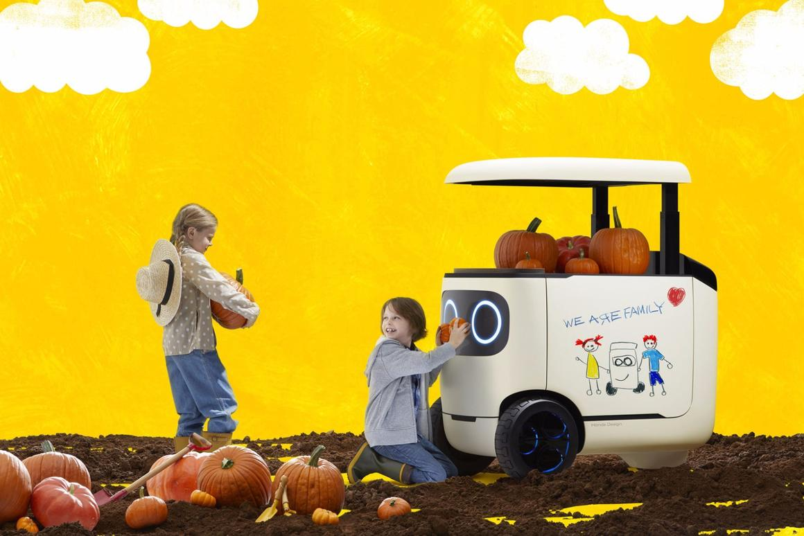 Forget a red wagon for those pumpkins, let Honda's RoboCas take care of it
