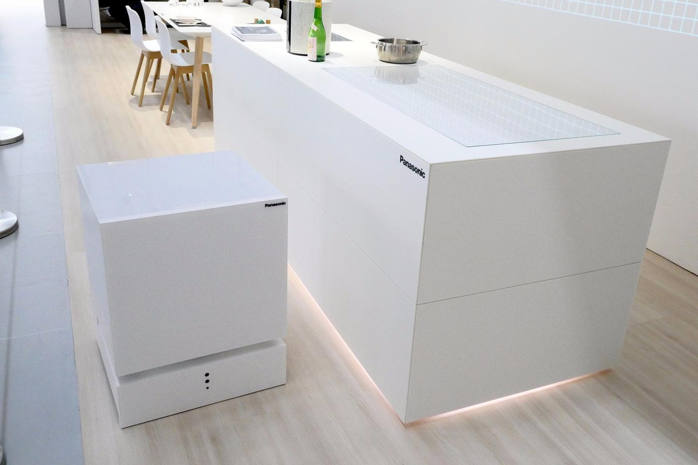 The Movable Fridge uses sensors to map a room and avoid obstacles as it trundles around the home
