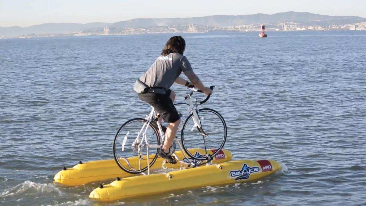 BayCycle's water-bike (Photo: BayCycle Project)