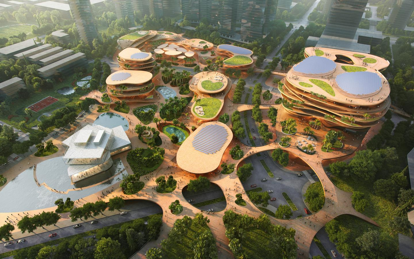 Shenzhen Terraces was recently chosen as the winner of an architecture competition hosted by Shimao Group