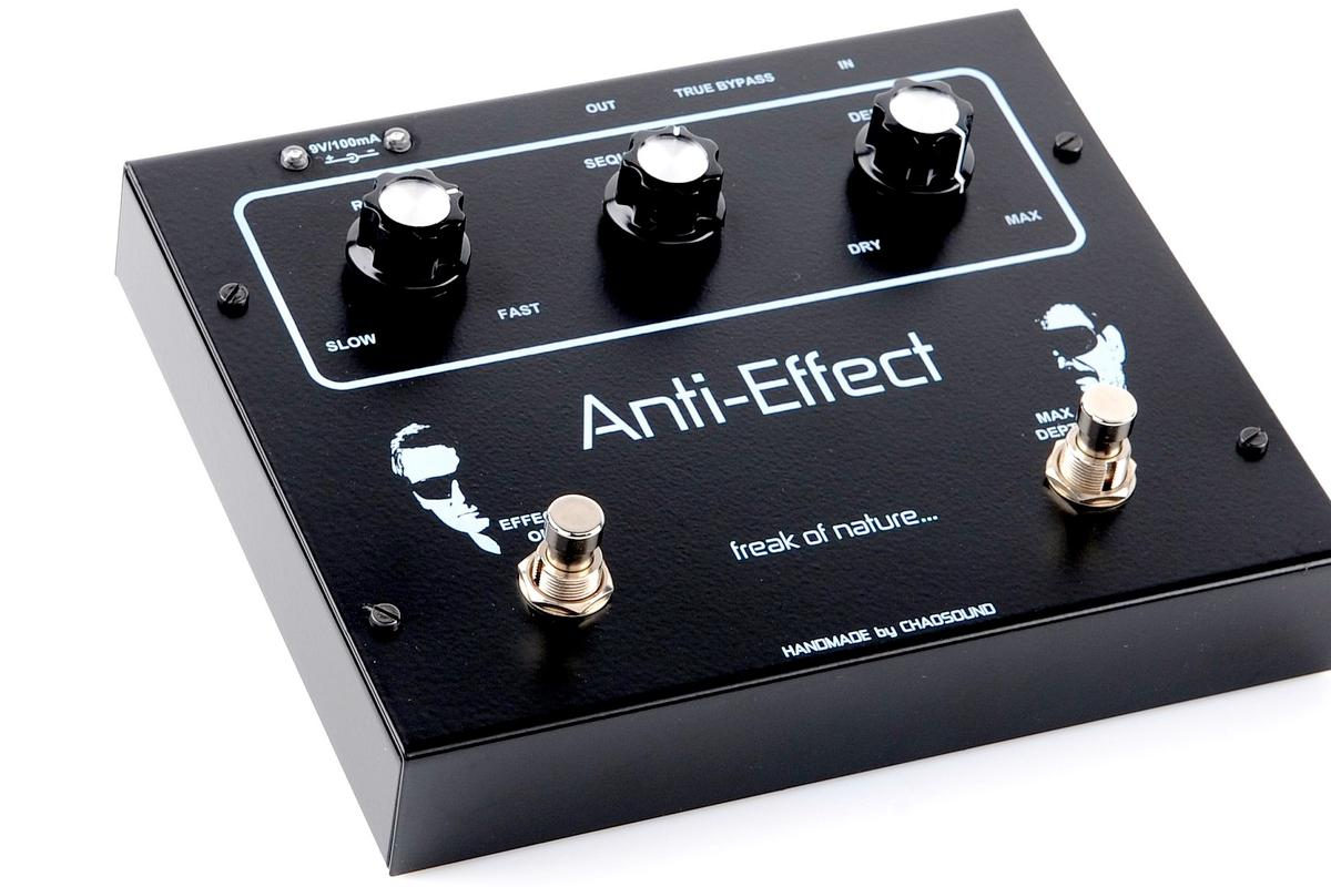 The Anti-Effect pedal from Poland's Chaosound imitates electroacoustic track damage for a precision-controlled broken guitar sound