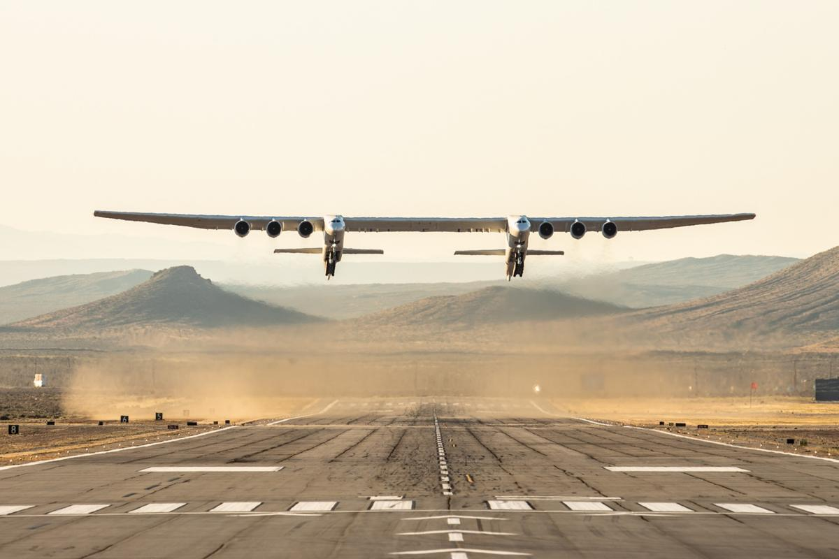 The Stratolaunch carrier aircraft has the world's longest wingspan