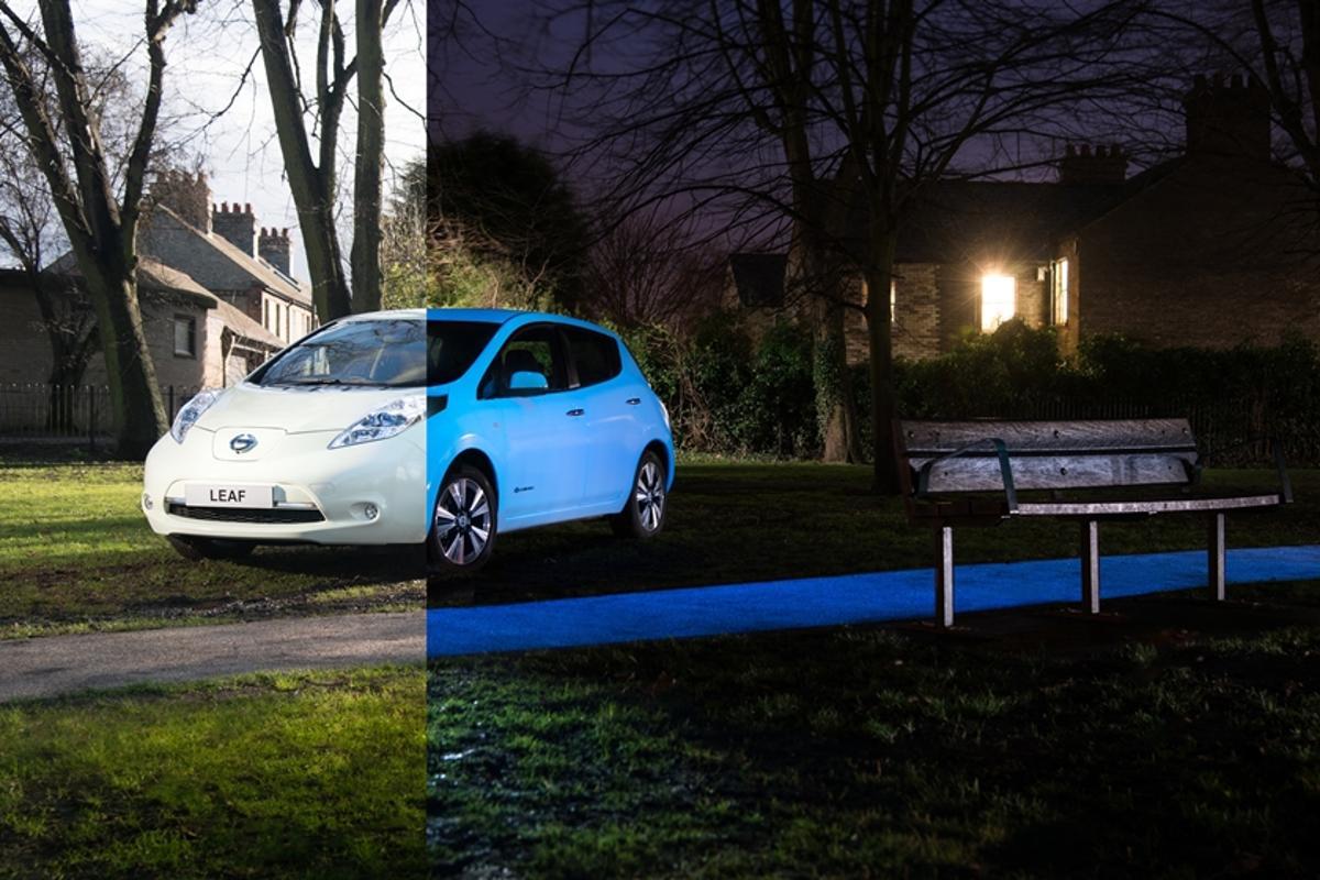 Nissan has created a glow-in-the-dark Leaf