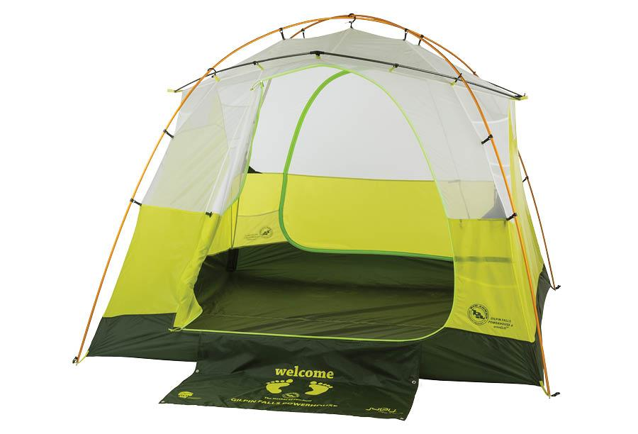 The Big Agnes Gilpin Falls 4 mtnGLO includes the Joey T55 portable charger