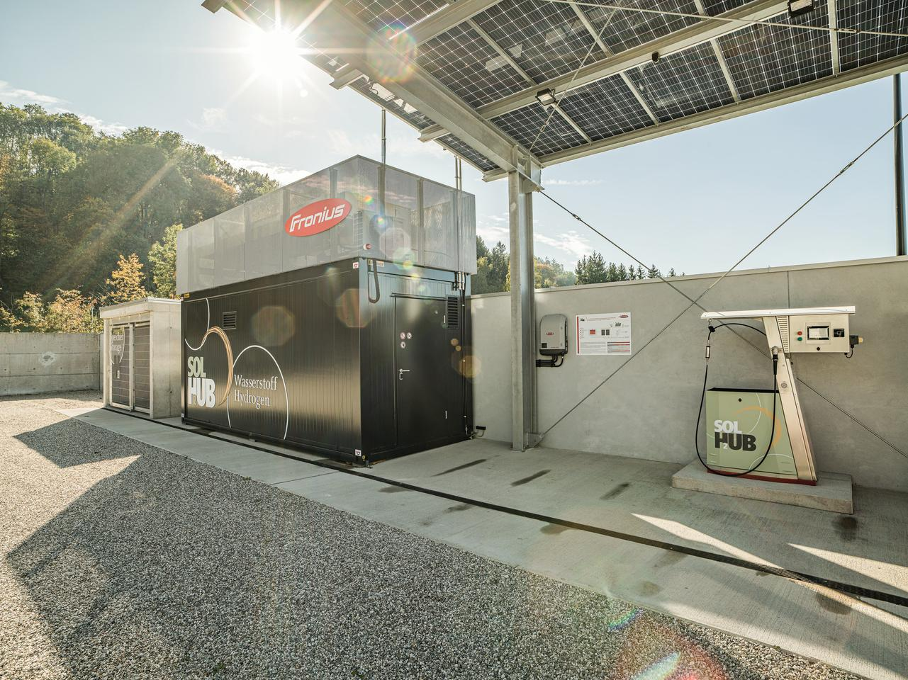 A prototype SolHub unit at Fronius's research and development site