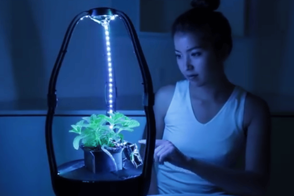 The AstroGro system uses 3D printed pods to grow plants in space