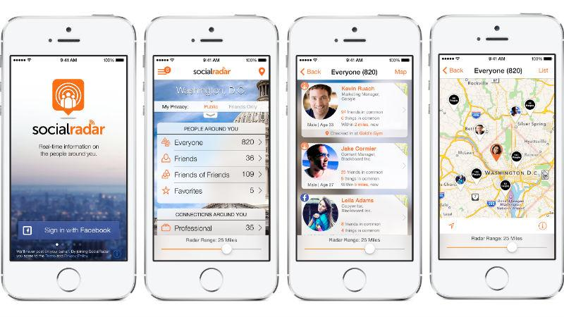 SocialRadar is an app that provides real-time information about the people around you