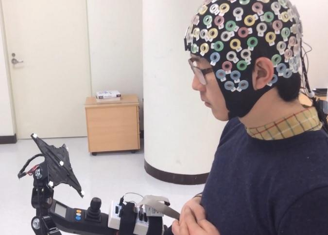 Researchers have developed a brain-computer interface that would allow quadriplegics to control a lower limb exoskeleton by looking at specific LEDs