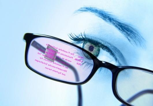 OLED data glasses developed by German students at the Fraunhofer Institute in Dresden