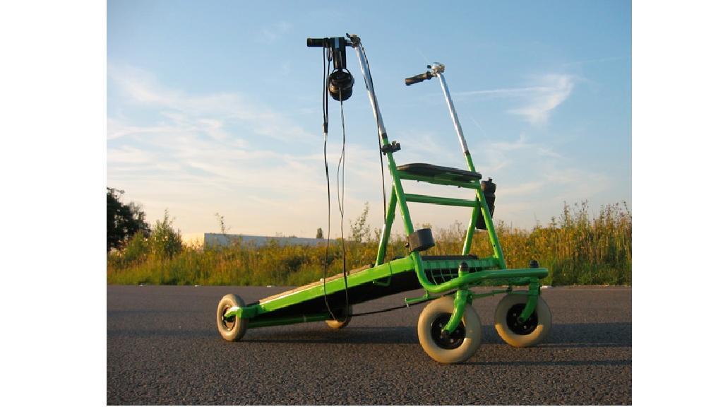 The Ooms Rollator ... finally you can get somewhere on a treadmill