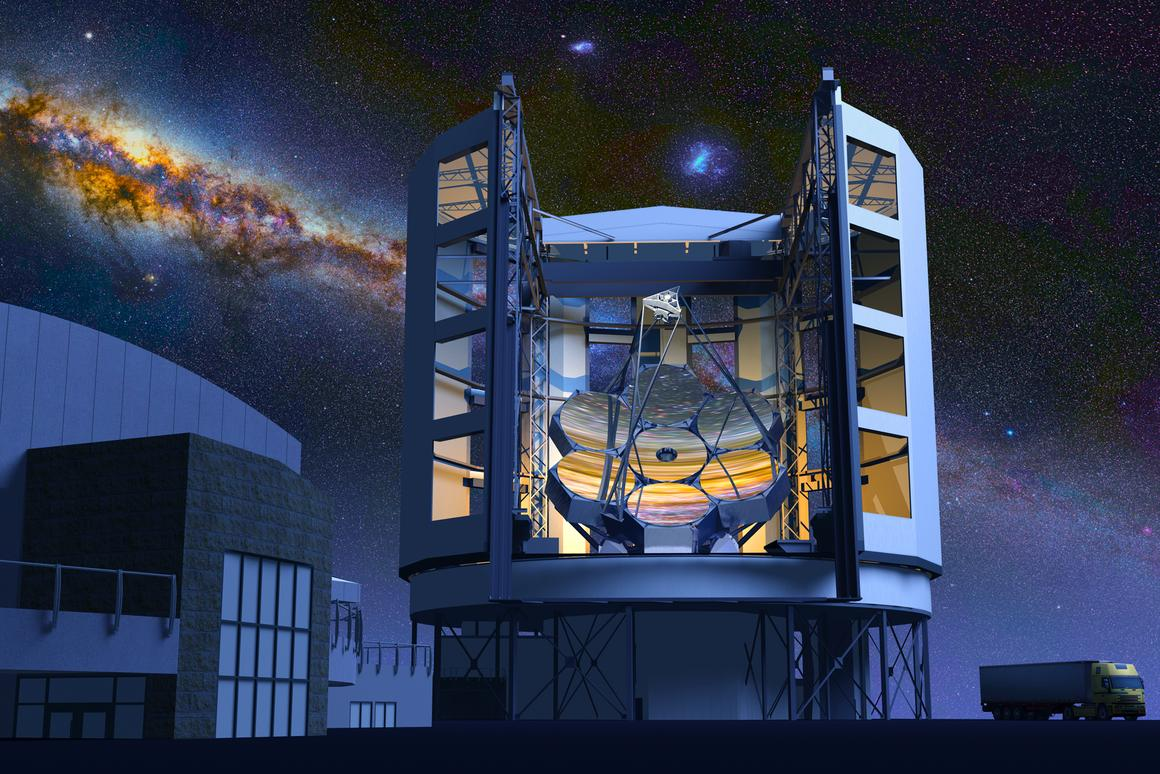 The GMT will be completed in 2020 and sport a resolution 10 times greater than the Hubble Space Telescope (Image: Giant Magellan Telescope - GMTO Corporation)