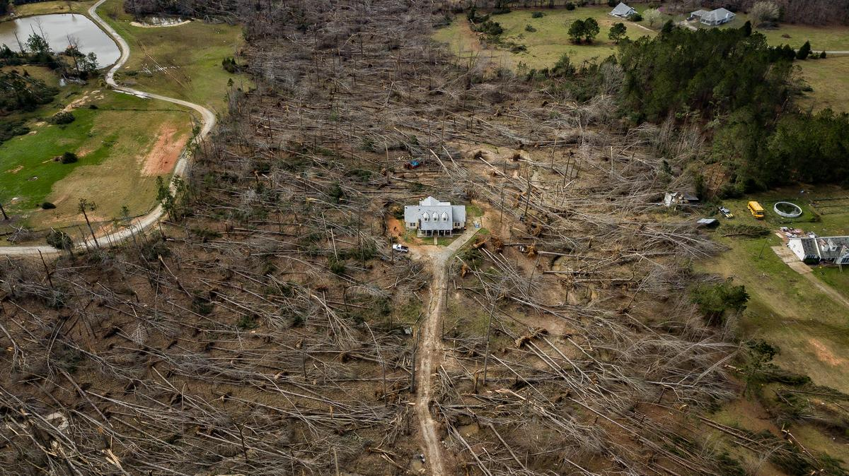 """Finalist, American Experience. """"Home Survives Direct Hit From Tornado"""""""