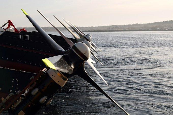 The turbines for Sustainable Marine's floating tidal energy platform are made from carbon fiber
