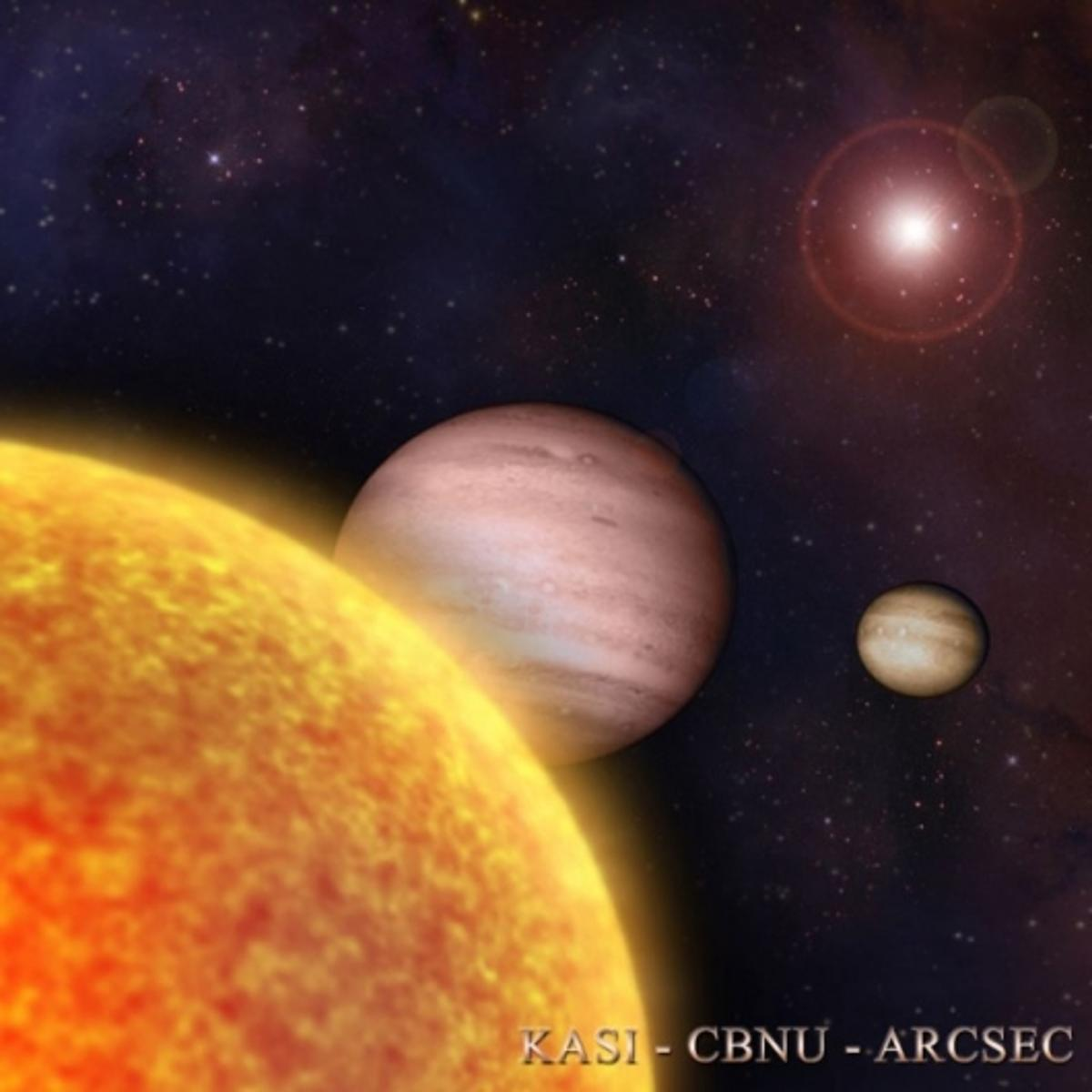 Artist's impression of the newly detected planets Photo courtesy KASI, CBNU, and ARCSEC
