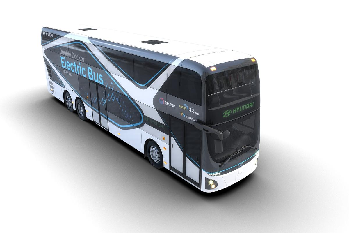 Hyundai Motor says that the development of its first electric double-decker bus is part of the company's effort to help reduce traffic congestion and air pollution