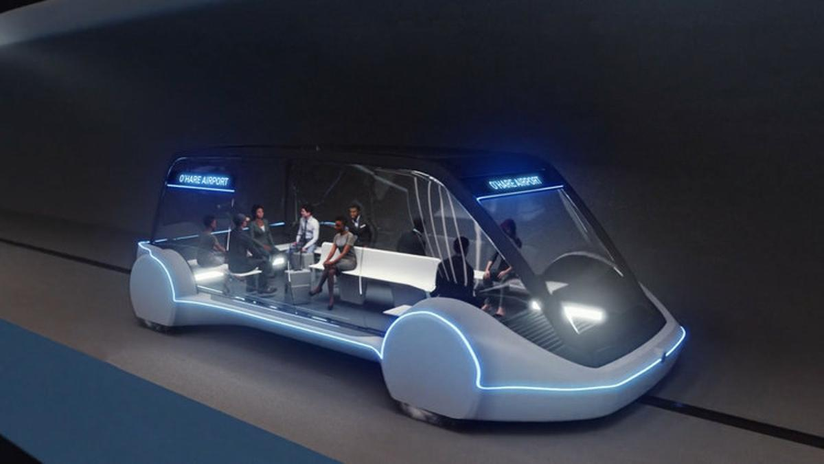 Passengers will be ferried from downtown Chicago to O'Hare Airport at up to 150 mph in autonomous electric pods called skates