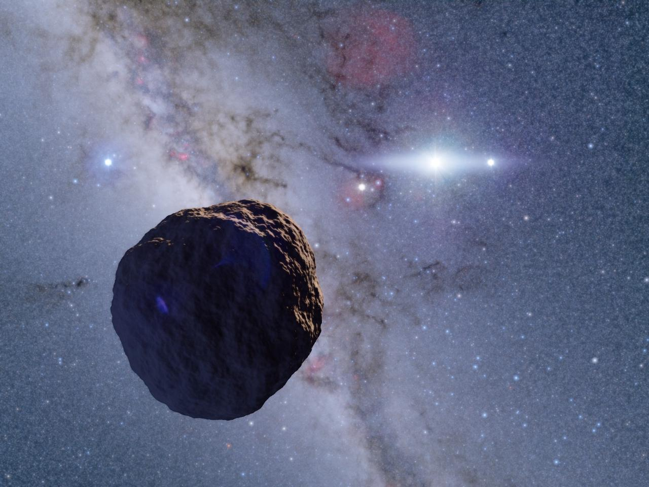 An artist's impression of the newly-discovered object