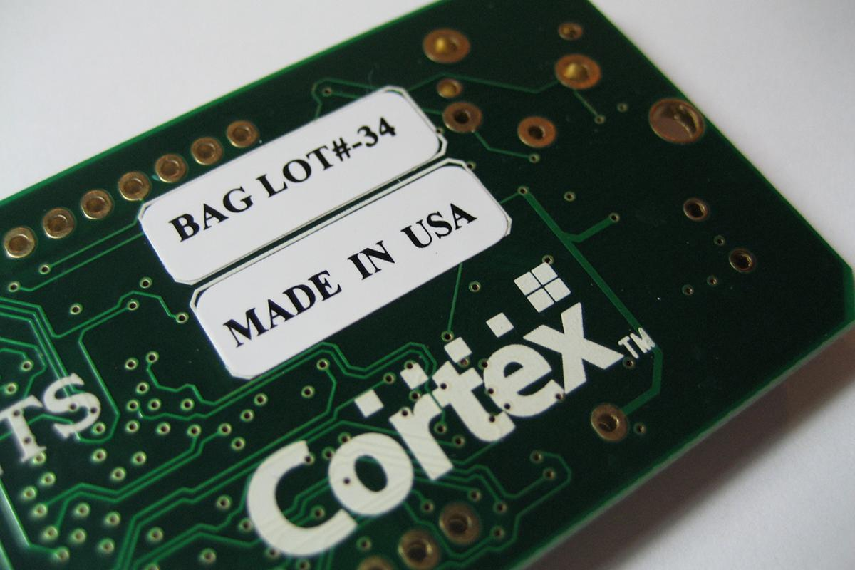 A Texas Instruments Stellaris microcontroller which includes an older ARM Cortex-M processor (Photo: John R. Southern)