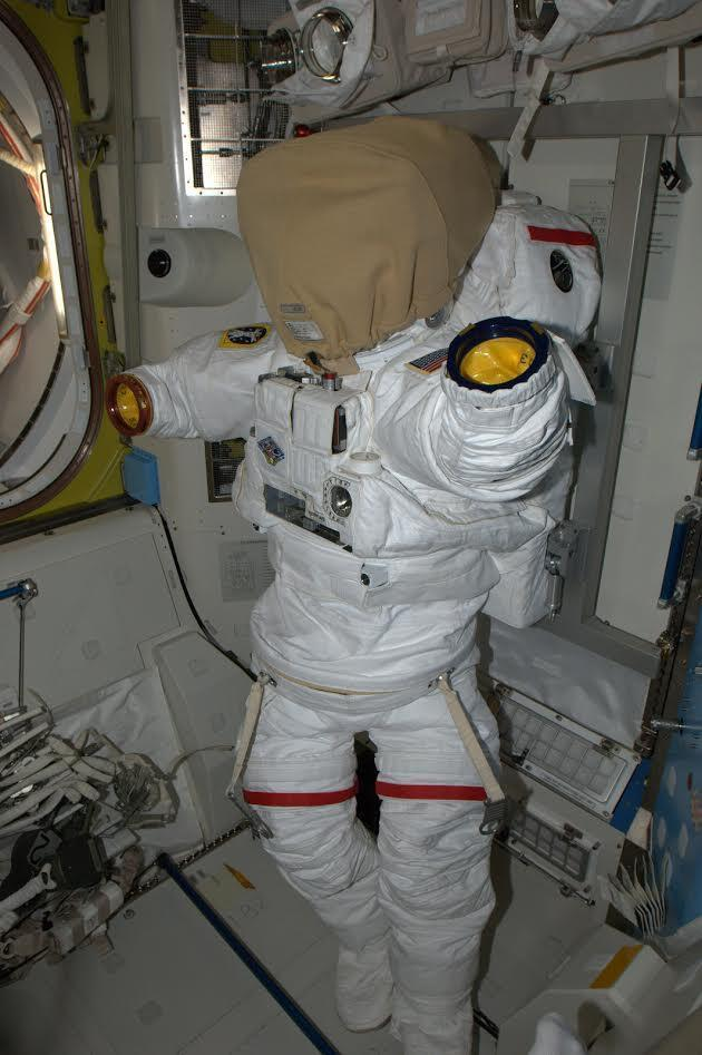 One of the spacesuits on the ISS