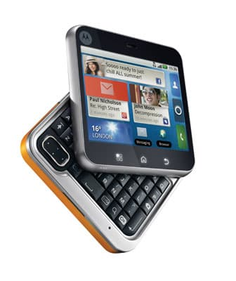 Pivoted at one corner, the hidden QWERTY keyboard slides out - hence the smartphone's name