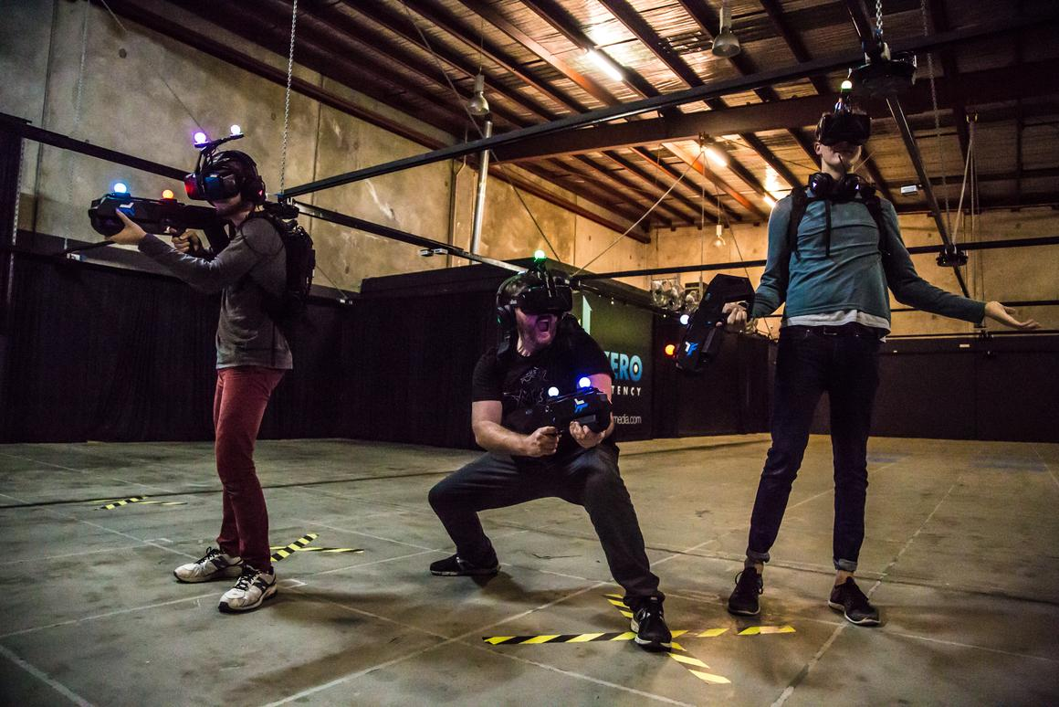 Zero Latency is a free-roam virtual reality system, which tracksplayer movementsaround a warehouse and translates it into motion in a digital world