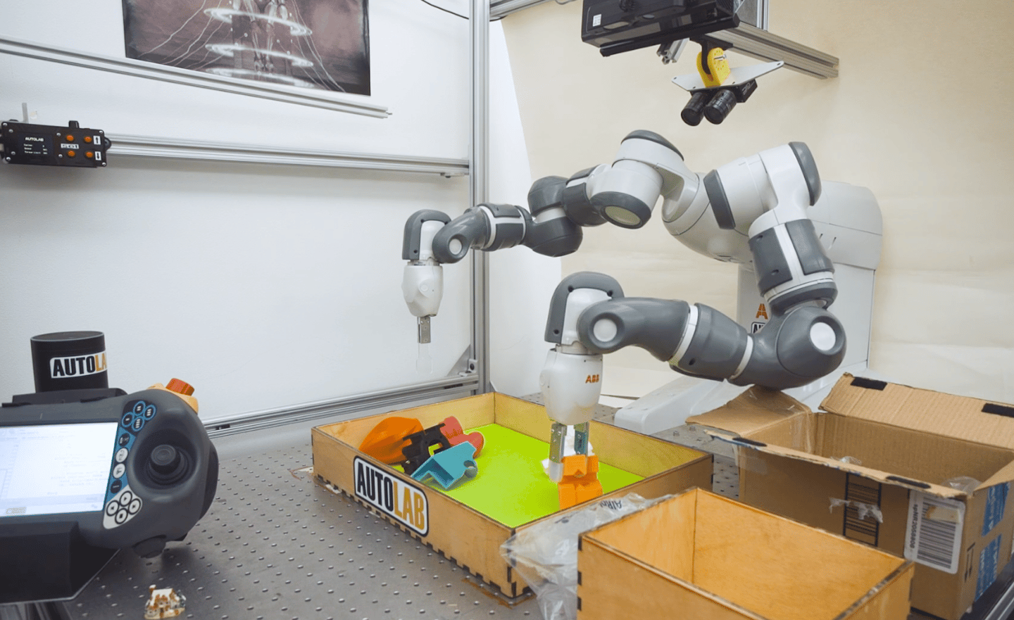 "The MIT Technology Review called DexNet 2.0 ""the most nimble-fingered robot yet"""