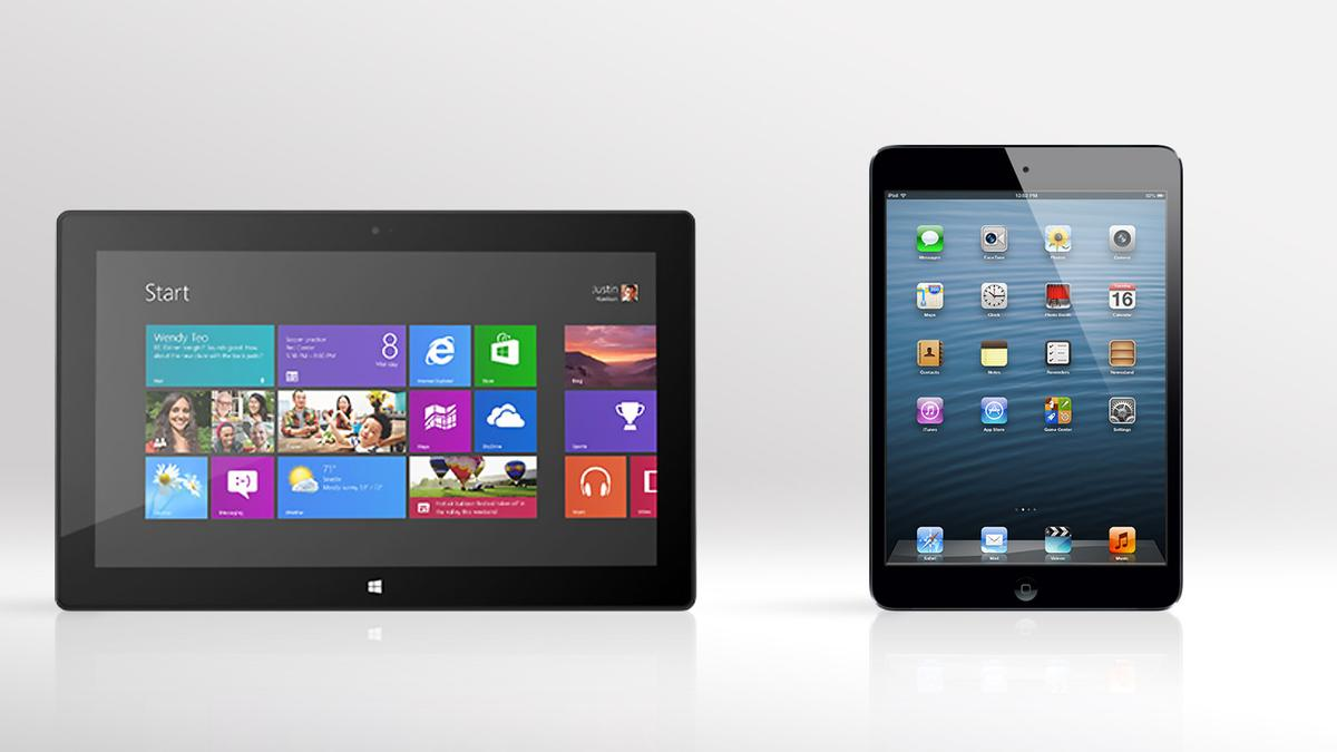 Gizmag compares the specs (and other features) of the newly-discounted Microsoft Surface RT and Apple iPad mini