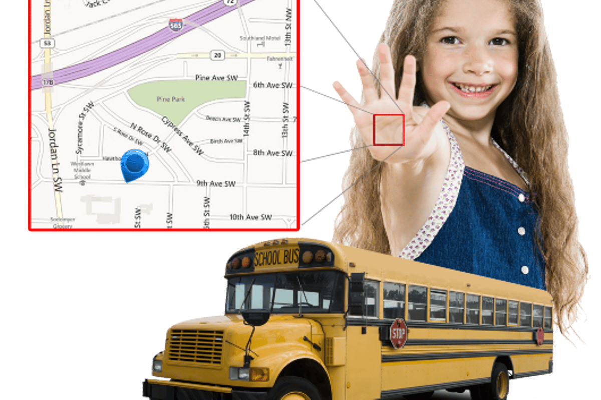 Kidtrack identifies young bus-riders by reading the unique vein patterns of their palms