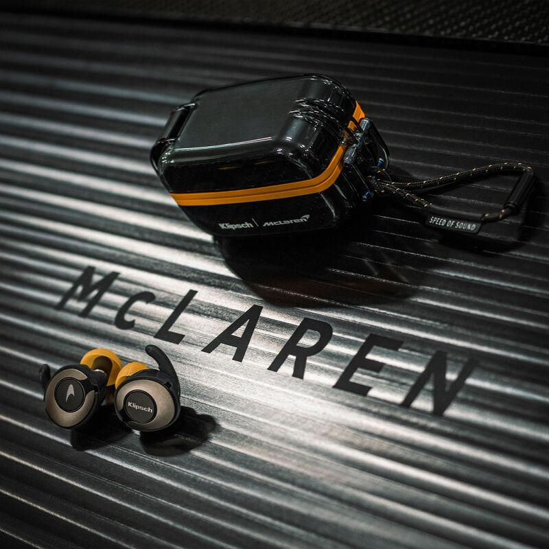 The T5 II Sport McLaren Edition true wireless earphones and charging case are IP67 dust- and