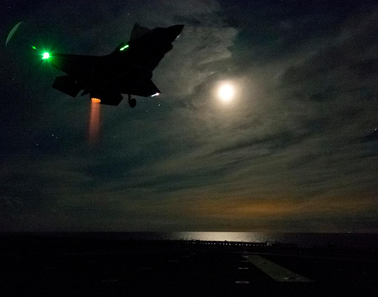Lt. Col. Russell Clift piloted the F-35B's first night-time at sea vertical landing (Photo: Lockheed Martin)