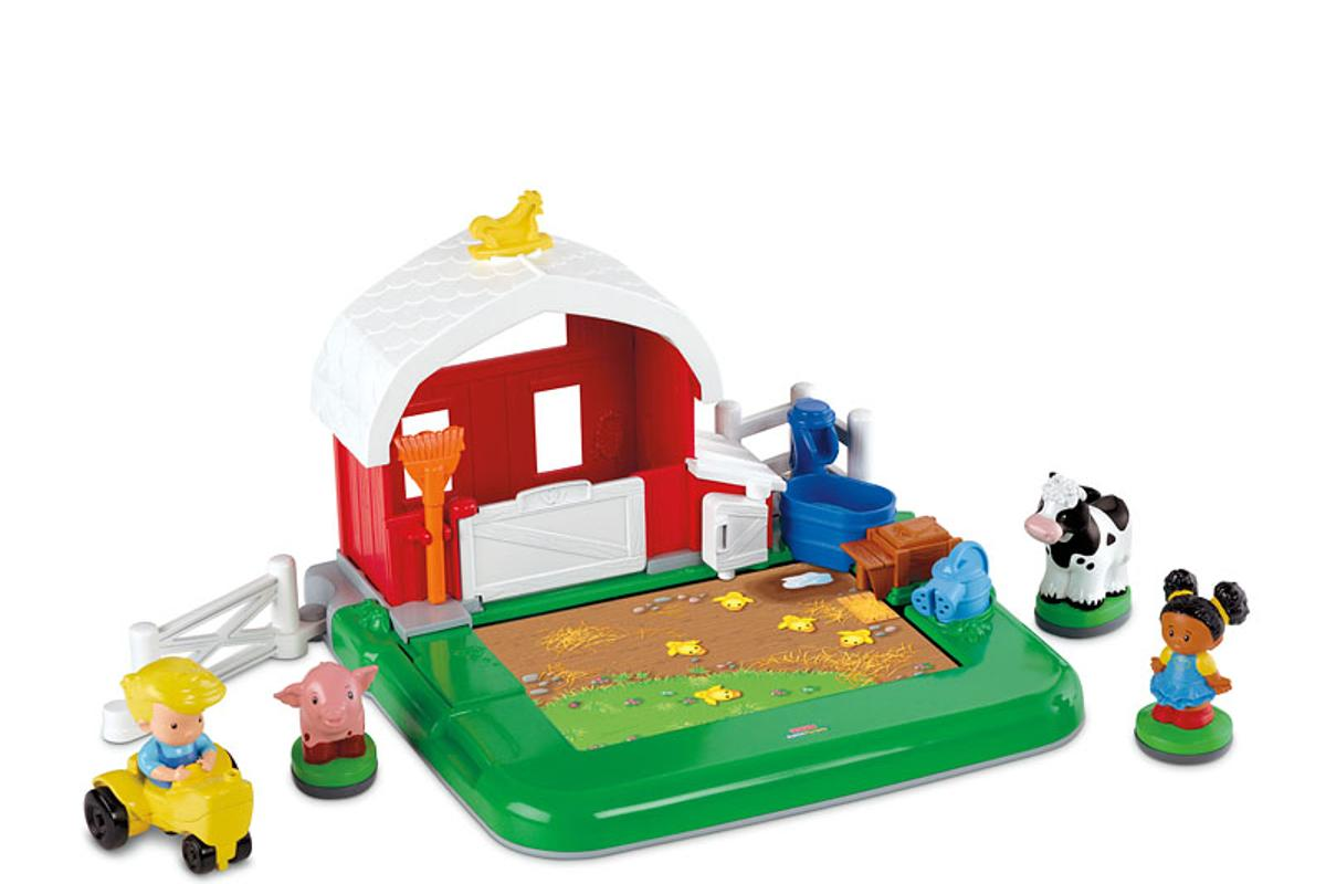 With a companion app, the Fisher Price Little People Apptivity Barnyard allows interactive play