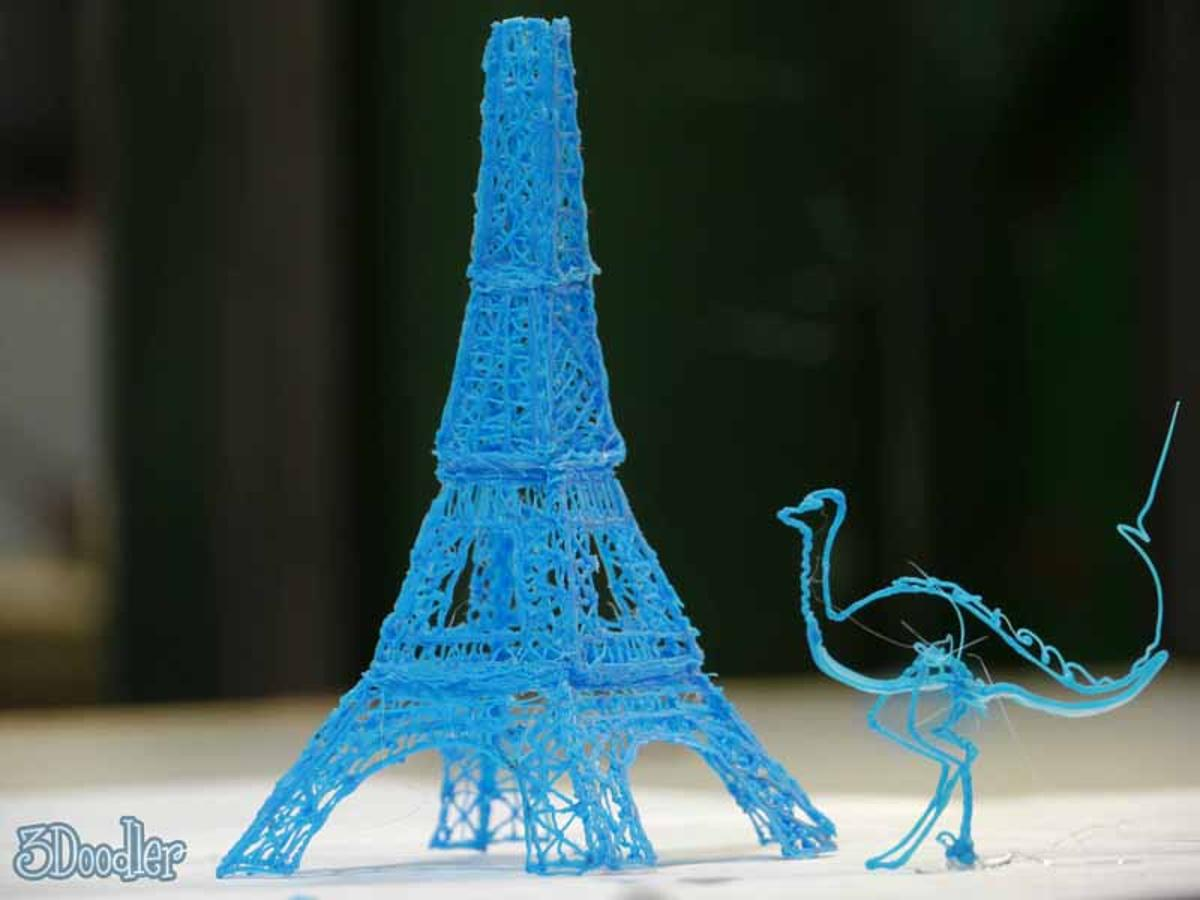 The 3doodler sketches with plastic, allowing you to create unique 3D artworks