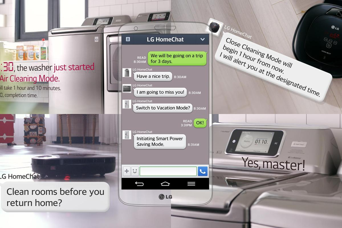 LG HomeChat will allow users to issue commands and receive status updates from their smart appliances by texting them and using simple, conversational language