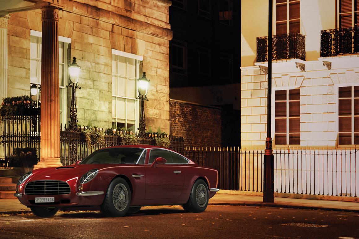 The David Brown Speedback works off a Jaguar XK chassis and 5.0-liter engine