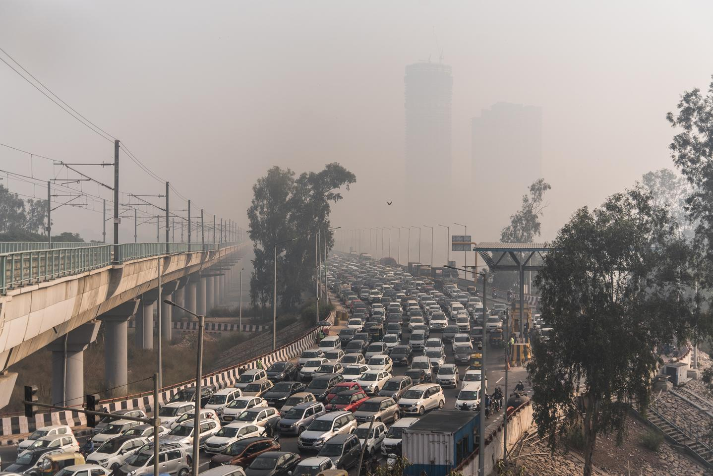 'Gas Chamber Delhi'. New Delhi is one of the world's most polluted cities. In winter especially, smoke and smog create a toxic mantle from which it is impossible to escape.