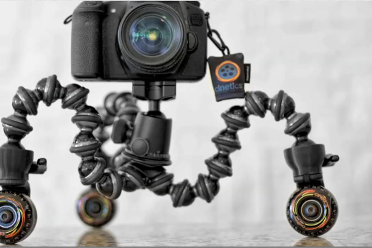 CineSkates are soft urethane wheels for the GorillaPod Focus tripod, that allow users to do smooth tracking shots
