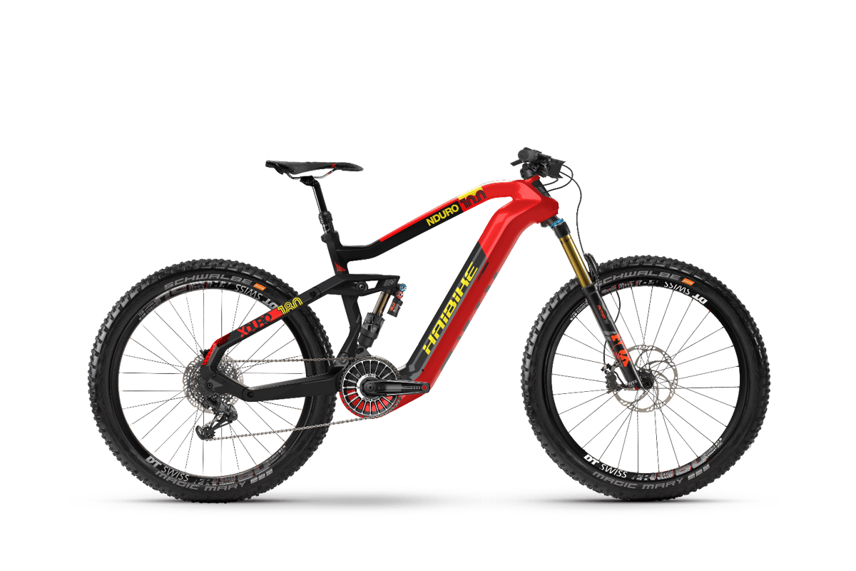 Haibike XduroNduro 10.0 is the big daddy of the new Flyon range and comes in at€8,999