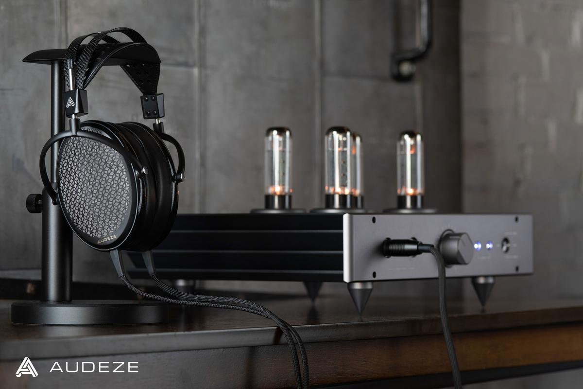 """The CRBN Electrostatic headphones feature a new thin-film polymer diaphragm with suspended carbon nanotubes """"to eliminate problems commonly found in previous electrostatic designs"""""""