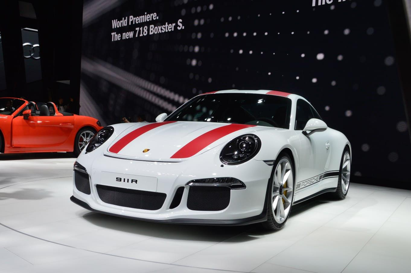 The Porsche 911 R was launched at the Geneva Motor Show
