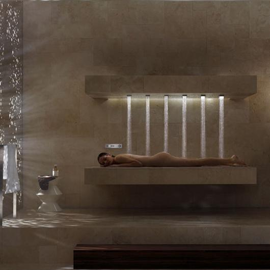 The Horizontal Shower lets you shower while reclining