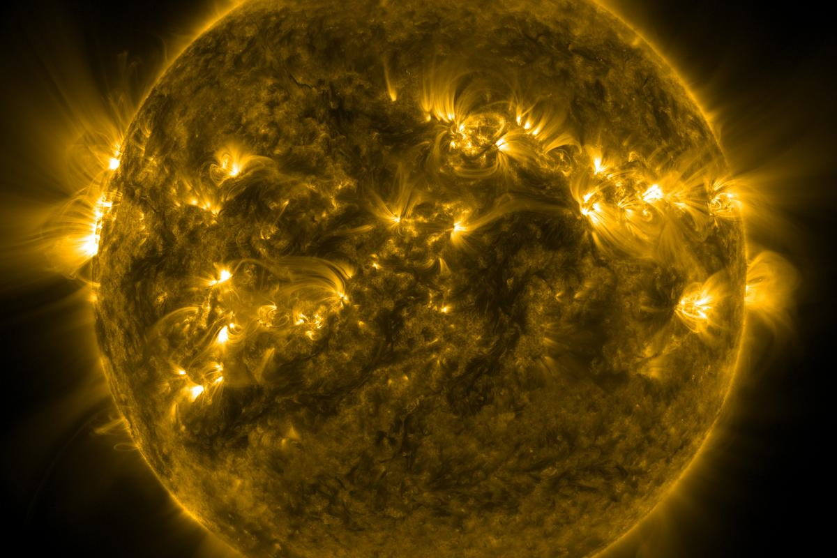 Life on Earth is ordinarily protected from harmful solar emitted UV radiation by our planet's thick atmospheric shell