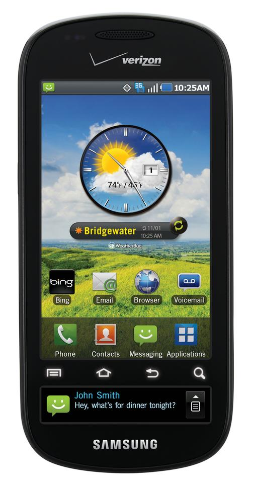 The Continuum's unique 1.8-inch super AMOLED ticker display sits beneath the 3.4-inch main multi-touch screen and feeds the user news, weather, sport as well as incoming message alerts