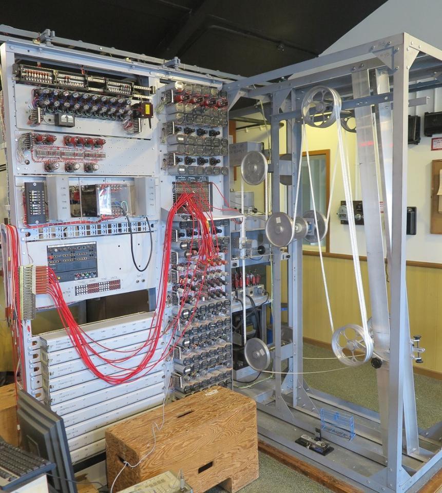The reconstructedHeath Robinson machine