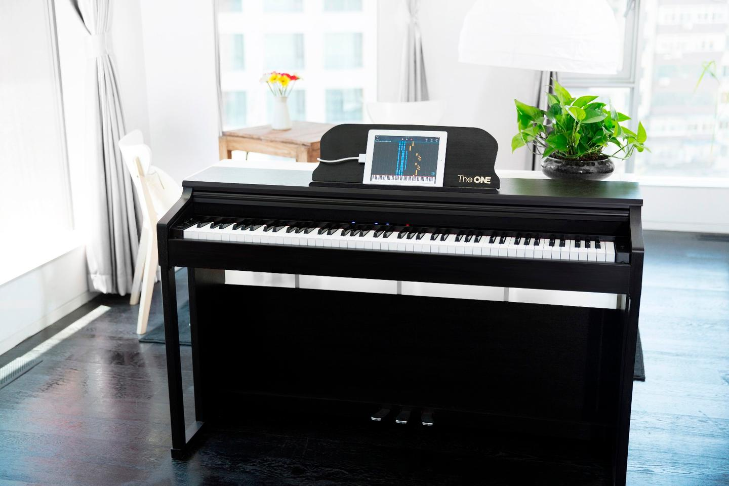 The One Smart Piano is reported to be the world's first and only upright, Apple MFi-certified piano