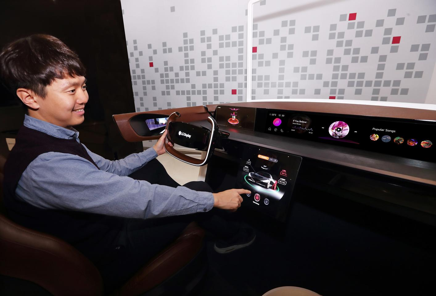 LG Display will preview an OLED dashboard at CES 2020, comprising four screens housed under a single sheet of glass