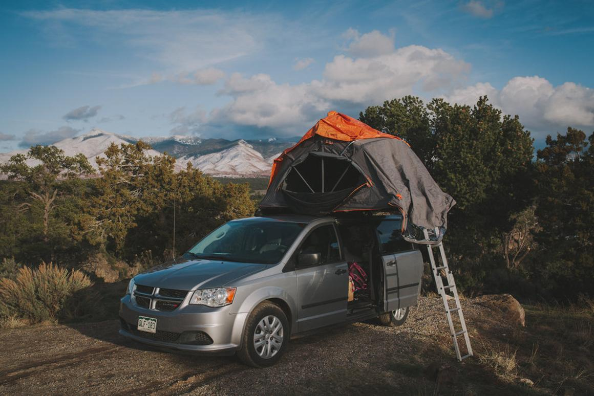 Contravans shows a minivan camper with some extra space